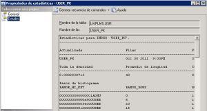 Estadísticas en SQL Server
